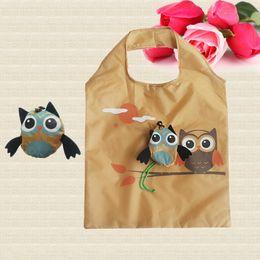 $enCountryForm.capitalKeyWord Canada - Cute Animal Owl Shape Folding Shopping Bag Eco Friendly Ladies Gift Foldable Reusable Tote Bag Portable Travel Shoulder Bag