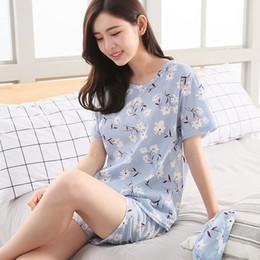 $enCountryForm.capitalKeyWord Canada - Factory wholesale Summer women Pajamas Set Send Goggles Short Sleeve Nightgown Cartoon Cute Sleepwear suit Girl Pijamas Mujer