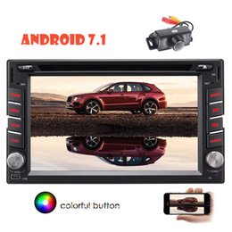 "Double Touch Screen Android Phone Canada - Android 7.1 Car DVD CD Player 6.2"" Double Din Radio GPS navigation Bluetooth Phone Link Steering Wheel Control Video Output WIFI"