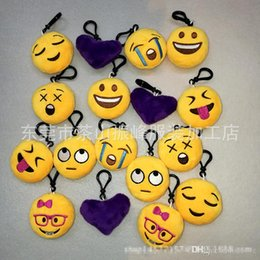 Chinese  2017 new! Emoji QQ Expression Plush Key Rings Cartoon Action Game Figure Pendant Keychain Cell Mobile Phone Stuffed Keychain Toys Gifts DHL manufacturers