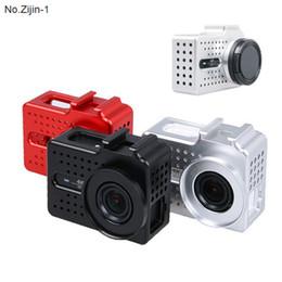 aluminum cap case 2019 - New Action Camera Accessories CNC Aluminum Xiaoyi 2 4k Frame Case + UV Protector Lens Cap Cover For Xiaomi Yi 2 4k Camer