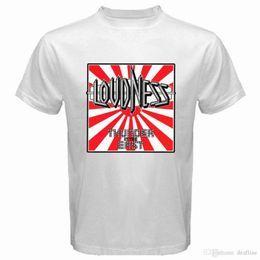 Ingrosso China Style Fashion Rock Novità LOUDNESS Thunder in The East Rock Band Legend T-shirt bianca da uomo taglia S-3XL