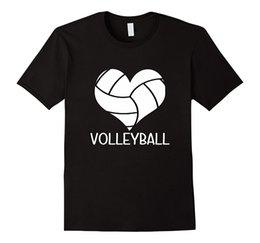 Ich liebe Volleyballer Herz T-Shirt für Teen Mädchen und Jungen Herren 100% Baumwolle Plus Size Top T-Shirt Männer Kleidung Plus Größe im Angebot