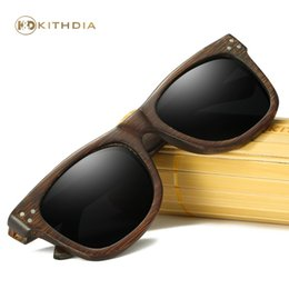 China Kithdia Dark Frame Wooden Sunglasses   Bamboo Sunglasses Polarized Lens and Support Drop Shipping   Provide Pictures #KD028 cheap green bamboo pictures suppliers