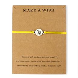 make wish bracelets 2019 - Hot Sale Adjustable Statement Jewelry with Card Make a Wish Silver Healing Namaste OM OHM I Love Yoga Charm Bracelets fo