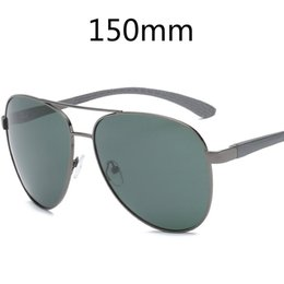 sunglasses round face men UK - wholesale (146mm) Oversized Mens Polarized Sunglasses for Driving Wide Face Sun Glasses for Man Aluminium Spring Hinge Sunglass