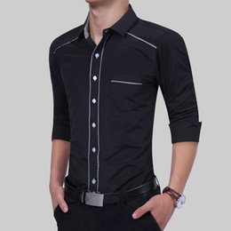 Smart Clothing NZ - New Fashion Mens Slim Fit Luxury Stylish Long Sleeve Stylish Casual Dress Shirt Tops Men Smart Casual Shirts Top Clothing