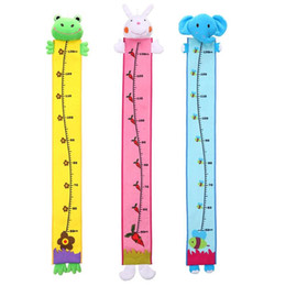 Wholesale Cute Wall Hanging Children Height Measure Baby Kids Home Growth Ruler Cartoon Child Height Measuring Toy