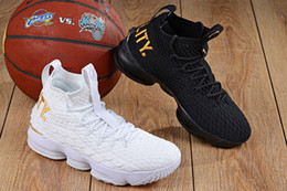 christmas basketball shoes NZ - Cheap new Men Kith X Lebron 15 Diamond Turf low tops Baby Kids basketball shoes Bred Black Red White Gold Christmas sneakers
