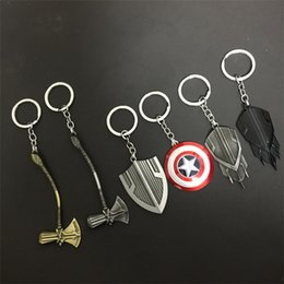 classic car novelties 2019 - 10 cm Marvel Avengers Figure hanging key chain Super hero Toys accessories pendant Novelty Items 8 color T1C122 discount