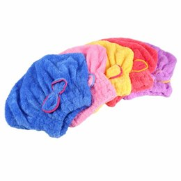 $enCountryForm.capitalKeyWord NZ - Quickly Hair Drying Cap Microfiber Ultra Absorbent Hair Dry Head Wrap Fast Drier Hair Bowknot Embellished Bath Towel Tower Hat
