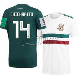 f711f688dd2a4 2018 World Cup Mexico National Team Home Visitante Futbol Camisa Camisetas  de fútbol Camiseta de fútbol Camiseta Kit Maillot