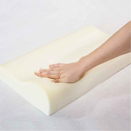 foam cervical pillow Canada - Brand New Bamboo Fiber Slow Rebound Sleep Memory Absorb Sweat Foam Cervical Health Care Single Pillow