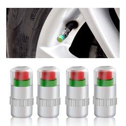 $enCountryForm.capitalKeyWord NZ - Best selling Tire Pressure Detecting Cap Visible Auto Tire Pressure Monitor Valve Stem Sensor Indicator 3 Color Eye Alert 4Pcs
