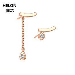 daa406815f5 0.03ct SI H Full Cut Natural Diamonds Stud Earrings Solid 18k Rose Gold  Women Earrings Fine Jewelry Engagement Wedding