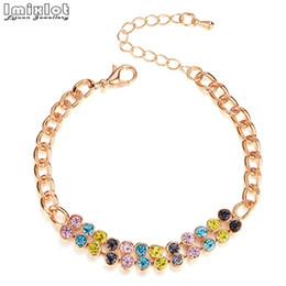 Gold bracelet fish desiGn online shopping - Bracelet Female Simple Designs Gold Color Australia Crystal Rhinestone Cuff Chain Bracelet For Women Hot Jewellry