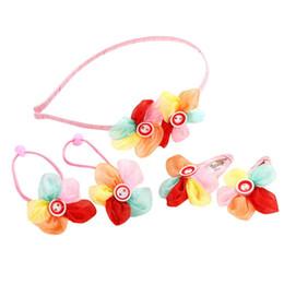 $enCountryForm.capitalKeyWord NZ - 5Pcs Kids Infant Hairpin Baby Girl Colorful Flower Motifs Hair Clip Set Headband for Girls #YL5