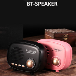 Discount front disk - Retro Mini Portable Bluetooth Speaker Subwoofer Heavy Bass Multimedia Radio U disk TF FM Handsfree With Retail Package F