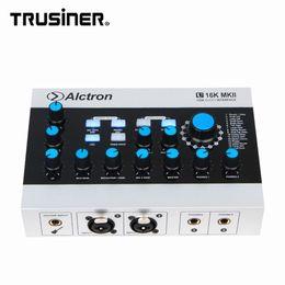 Toptan satış Yeni Alctron U16K USB Harici Ses Kartı Enstrüman Gitar Ses Arabirimi Mikser Karıştırma Konsolu Stüdyo Mikrofon Kayıt için CE ile