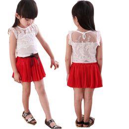 $enCountryForm.capitalKeyWord NZ - Kids Baby Girls Clothing Toddler Clothes Summer Chiffon Lace T shirt+Tutu Skirt Tracksuit Sets Suit For Girls Set New 2018 30