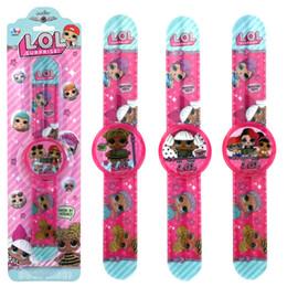 Presente de natal dos desenhos animados boneca relógio de moda menina Eletrônica calendário tempo relógios de pulso crianças crianças Jóias dhl livre