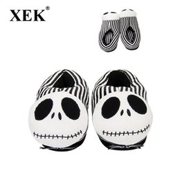 ShoeS pluSh toy Slipper online shopping - XEK Christmas Night Toy Scare Plush Slippers Halloween Funny All inclusive With Home Cotton Shoes wyq245