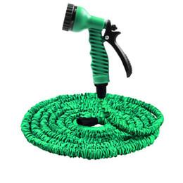 Manguera de jardín 25FT-100FT manguera de agua flexible ampliable manguera de la UE mangueras de plástico tubo con pistola de rociado para regar
