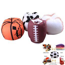 wholesale fabrics for dresses 2019 - Baseball Basketball Football Softball Storage Bags For Kids Baby Play Plush Stuffed Toys Home Blanket Towel Dress Up Org