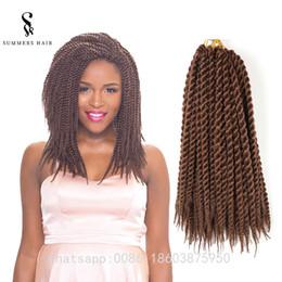 Discount grey braiding hair - Havana Mambo 2X Twist Crochet Braids Hair 120g Ombre Color Kanekalon Ombre Synthetic Braidinghair Senegalese Twist Hair