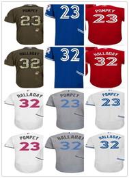 new mens toronto blue jays jerseys 32 roy halladay 23 dalton pompey green salute to service stitched