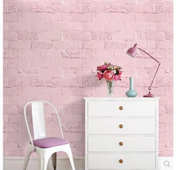 sticky wall paper 2018 - Copy 3 d self sticky white brick grain English letters waterproof wall clothing store dormitory wallpaper plain coloured