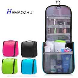 New Neceser Portable Cosmetic Bag Hanging Organizer Makeup Bag Women s Bathroom  Shower Toiletry Washing Travel Makeup Kit c00661a9812a3