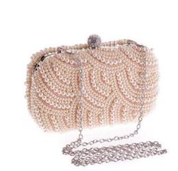 Brides Clutch Bags NZ - Pearl Evening bag for Women handbag Bride party bag Women Wallet Chain Clutch Bags Day clutches Lady wedding vintage purse
