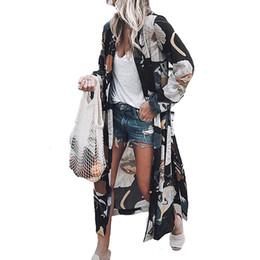 aaeebe705dc Women Casual Vintage Long Sleeve Kimono Cardigan Ladies 2019 Summer Long  Chiffon Kimono Loose Flora Printed Blouse Top Plus Size