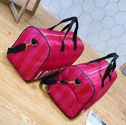 Large canvas duffeL bags online shopping - vs love pink girl bag travel duffel bag women Travel Business Handbags Victoria beach shoulder bag large secret capacity bags