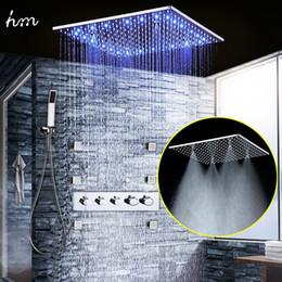 $enCountryForm.capitalKeyWord NZ - Luxury Bath Accessory Set 4 Way Temperature Control LED Color Change Chrome Bathroom Thermostatic Shower System with Hand Spray 20180927#