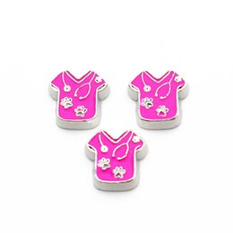 Wholesale Newest nurse uniform floating charms living glass memory floating lockets for DIY Accessory