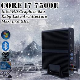 intel i7 desktop 2019 - Mini Desktop Core i7 7500u Fanless PC 7th CPU Kabylake Architecture HD Graphics 620 Max 3.5GHz Windows 10 Gaming PC 300M
