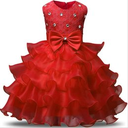 $enCountryForm.capitalKeyWord Australia - Fashion Girls Wedding Princess Dress Winter Formal Gown Ball Flower Kids Clothes Children Clothing Party Girl Dresses