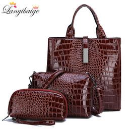 Big Ladies Handbags Australia - New Luxurious 3-piece Suit Women Bag Large Capacity Female Handbag Retro Shoulder Bags Lady Leather Big Tote With Crossbody Bag