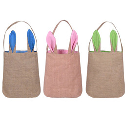Easter bags nz buy new easter bags online from best sellers 2018 new burlap easter basket with bunny ears 14 colors bunny ears basket cute easter gift bag rabbit ears put easter eggs negle Images