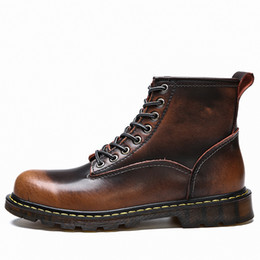 $enCountryForm.capitalKeyWord Canada - Big size 35-46!Free shipping!2017 Quality Genuine Leather shoes men Boots High Top Motorcycle Autumn Winter shoes Lover snow Boots