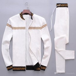 Ingrosso Fashion Tute da uomo Per il tempo libero Sport Suit Luxury Sportswear da uomo Brand design Jogger Set Cool Felpa spedizione gratuita