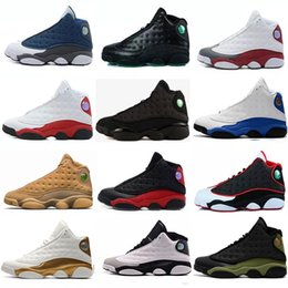 Discount rubber games - 2018 New Mens womens Basketball Shoes 13s 13 Bred Black White True Red hologram He got game Discount Sports Shoe Athleti