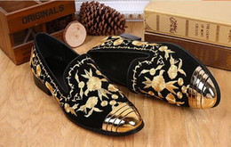 American Leather Shoes Canada - Set foot wedding dress men's shoes European and American style business work leather casual men's shoes.big size37-46 x63