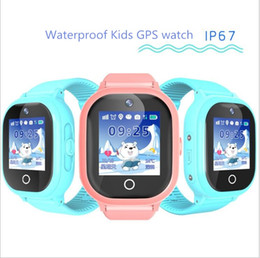 Discount silicone glasses kids - 2018 new GPS tracking watch for kids IP67 waterproof GPS Smart Watch swimming camera children Watch touch Screen SOS Cal