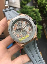 Discount men limited watches chronograph - Rose gold Luxury Brand Limited Edition watch men LeBron James Gray White VK Quartz Chronograph Rubber Strap Dress Watche