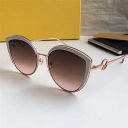golden cat s eye Canada - 0290 S pink brown pink shaded flash lens Sunglasses Cateye occhiali da sole Women Sun glasses New with box