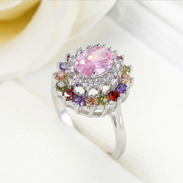 $enCountryForm.capitalKeyWord Canada - Half Dozen Valentine Gift Fire Pink Kunzite Crystal Gemstone Russia 925 Sterling Silver Plated Weddiing Ring