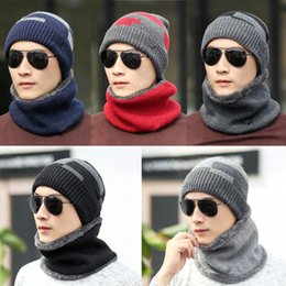 b8245f0fa0c44 Wholesale Winter Hat Scarf Sets Canada - Fashion Winter Hats Scarf For Women  Men Thick Cotton